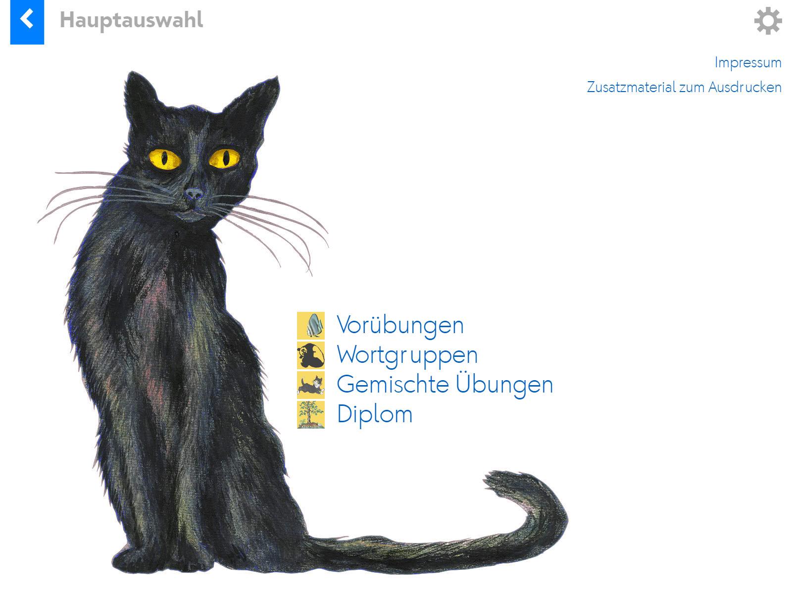 Katze mit tz Background 1