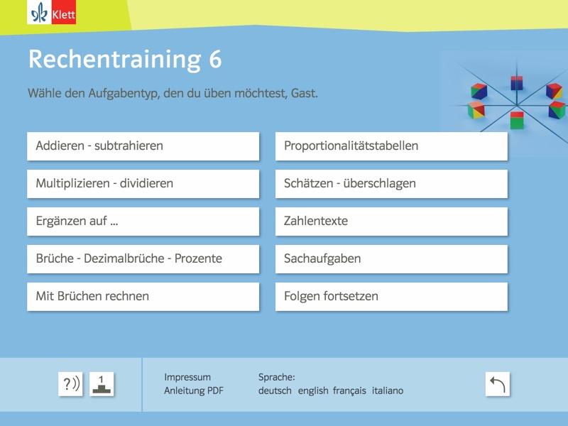 Rechentraining und Kopfgeometrie 6 Background 1