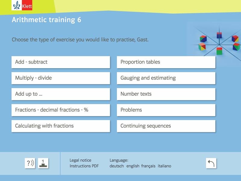Rechentraining und Kopfgeometrie 6 Background 2