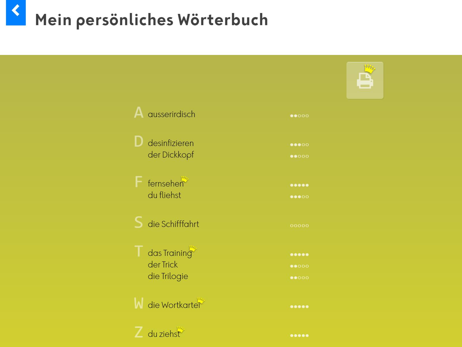 Wortkartei: Deutsch Background 5