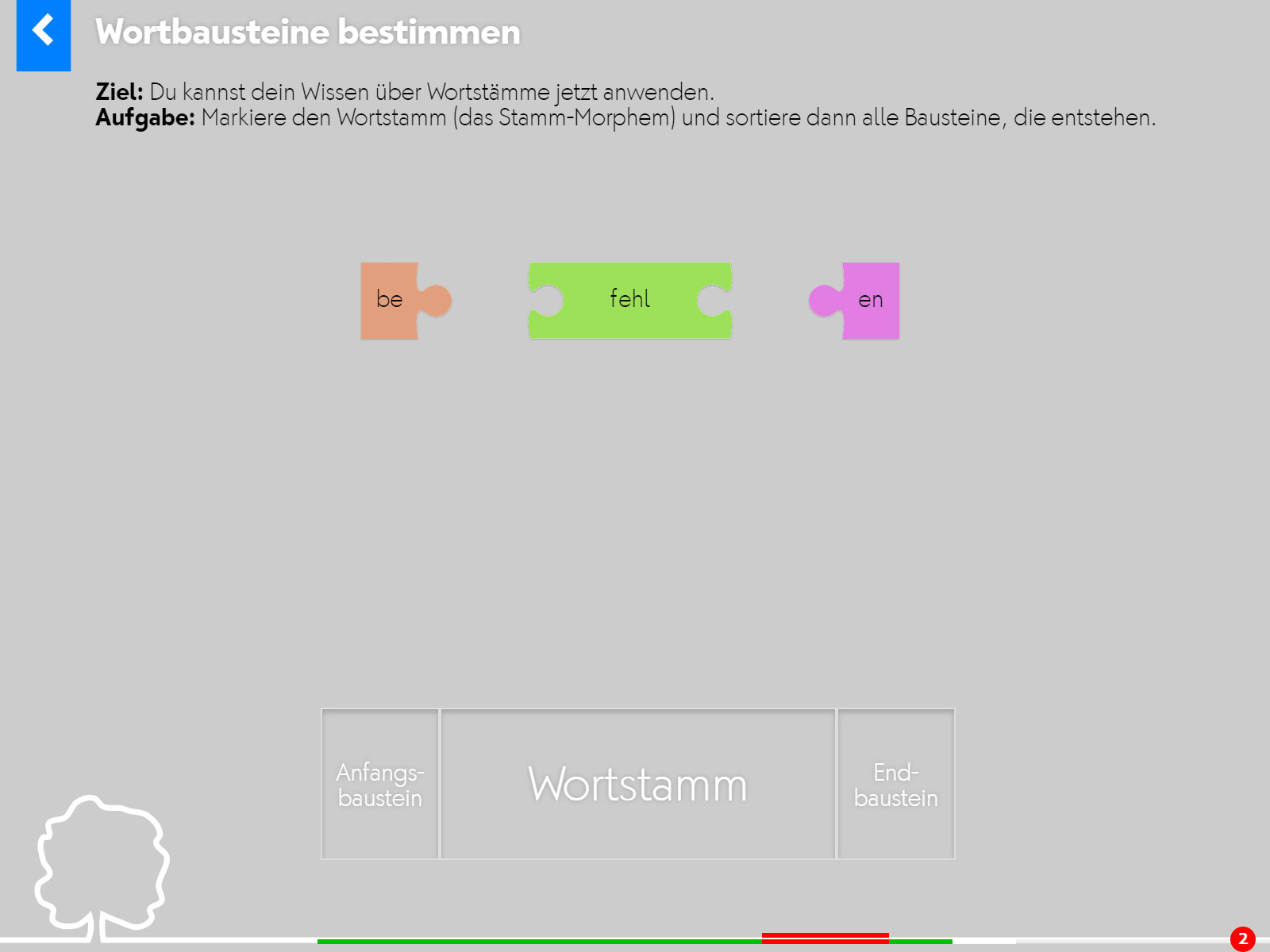 Wortstämme Screenshot 2