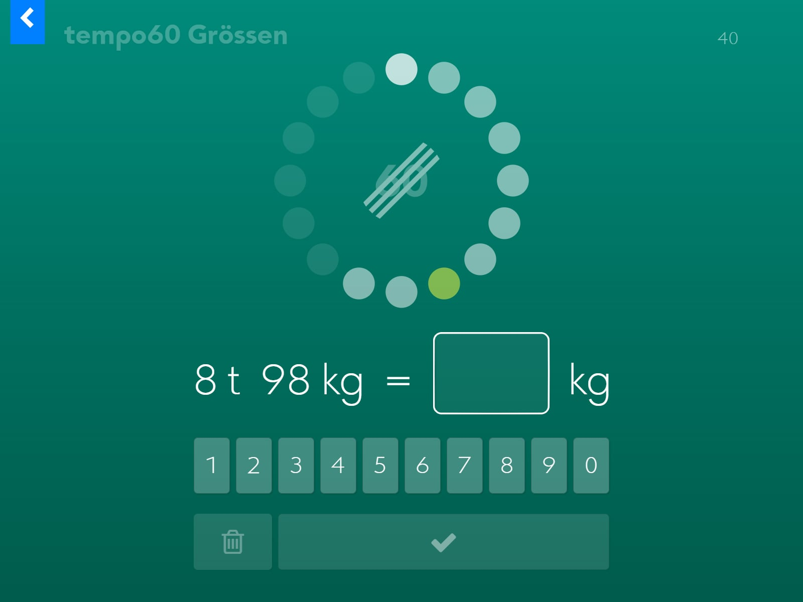 tempo60 Grössen Screenshot 2