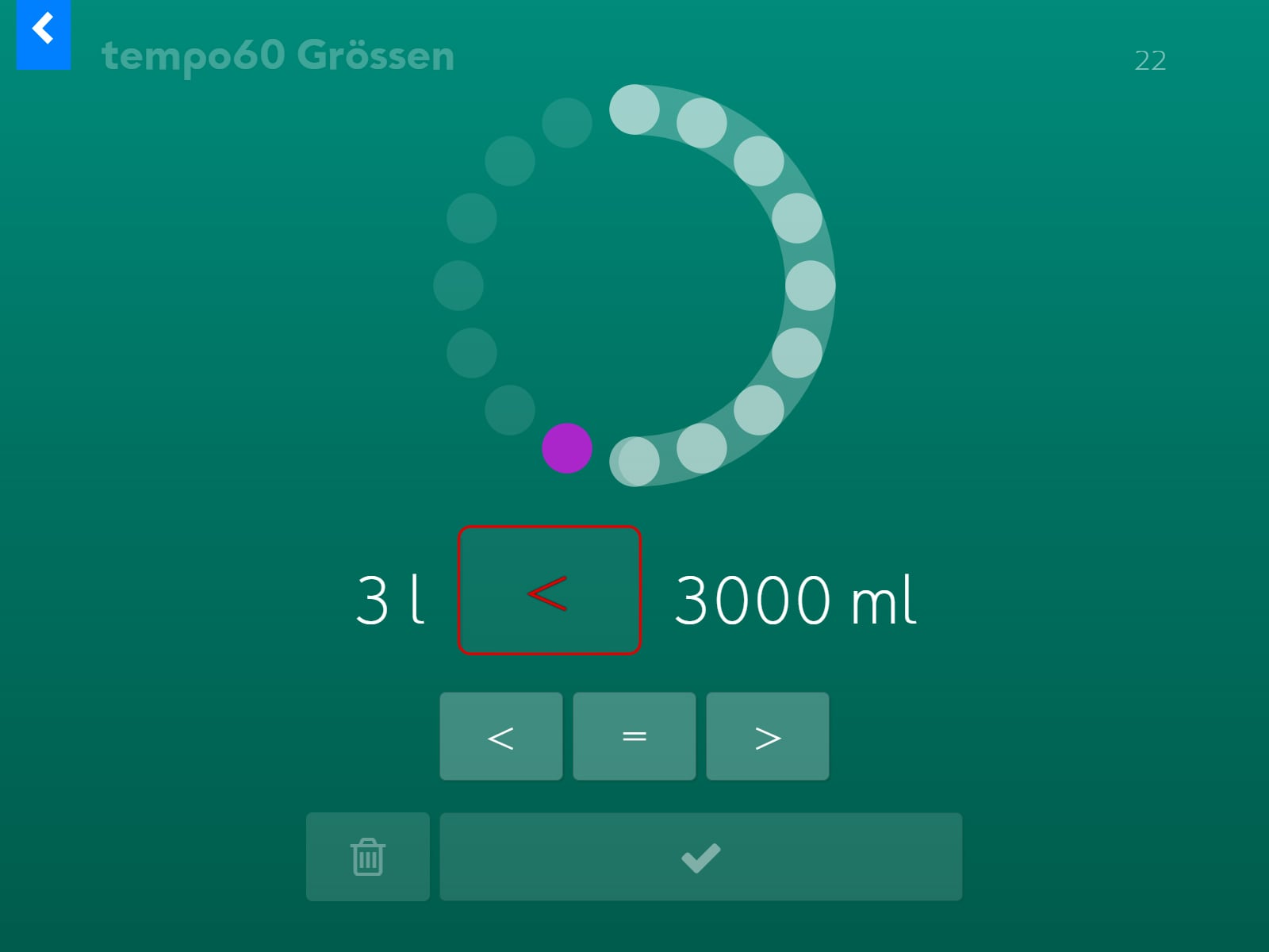tempo60 Grössen Screenshot 3