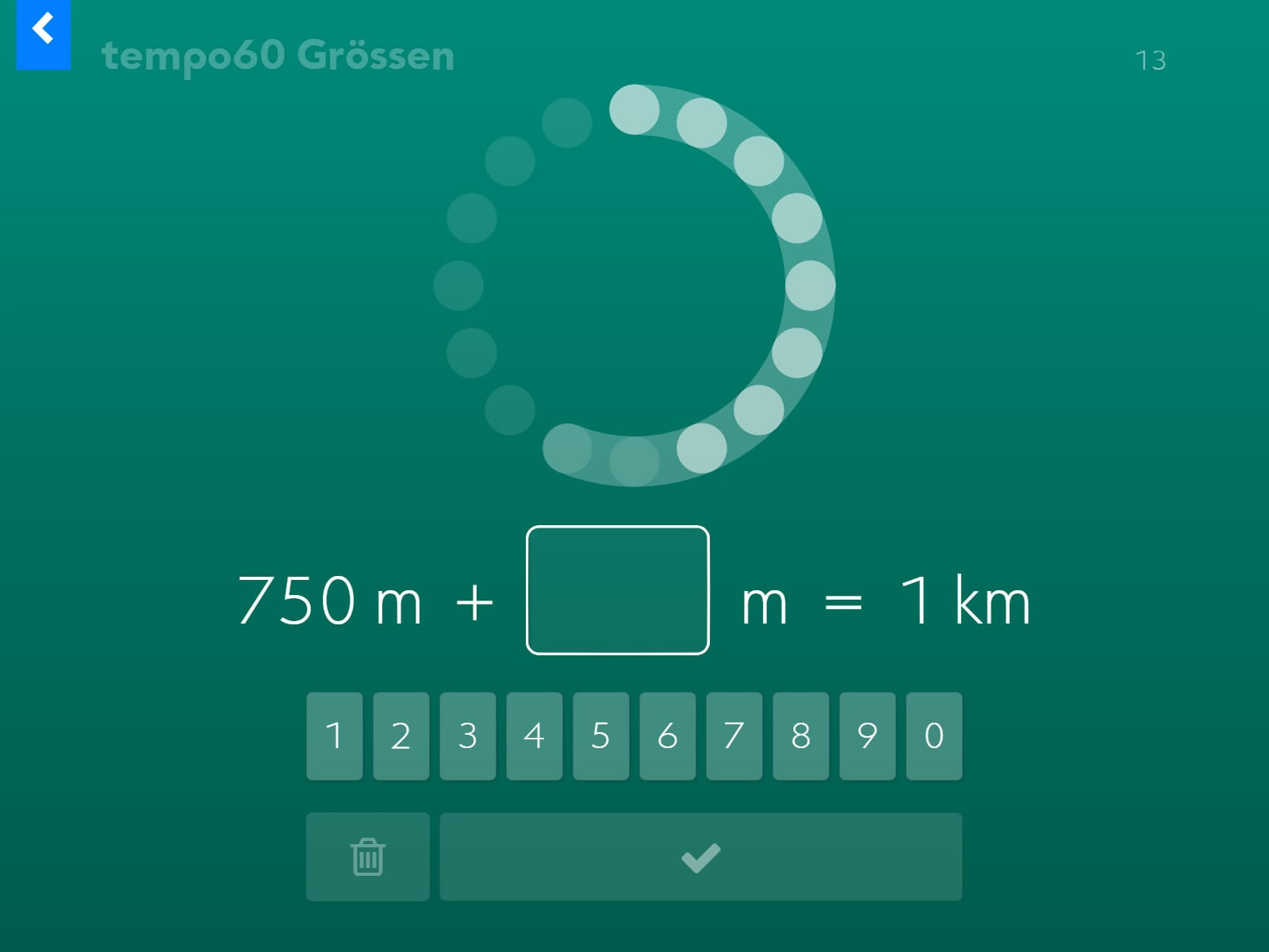 tempo60 Grössen Screenshot 4