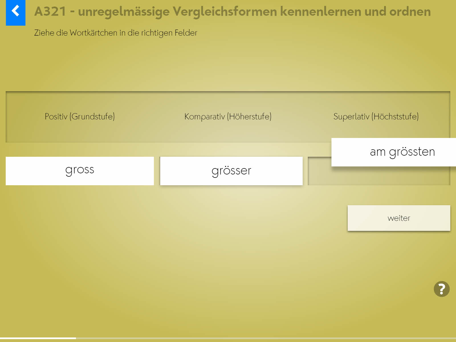Wortgrammatik: Adjektive Background 2