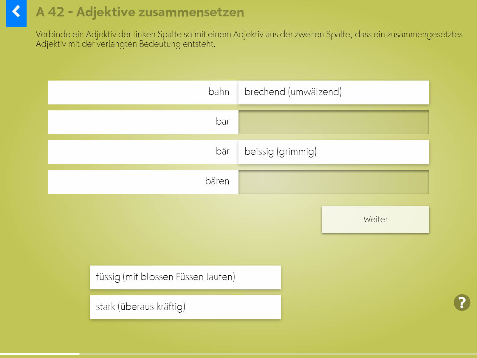 Wortgrammatik: Adjektive Background 4