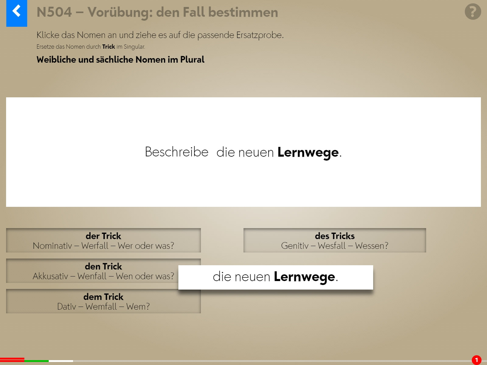 Wortgrammatik: Nomen Screenshot 5